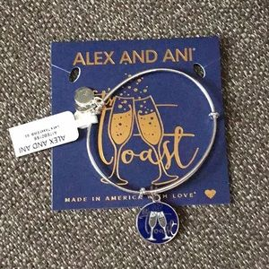 Alex and Ani Let's Toast Bracelet NWT
